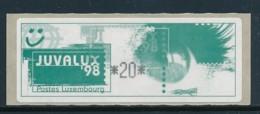 LUXEMBURG - Automatenmarke  Mi. Nr. 2 Juvalux 98 20Fr  - Markenheftchen -siehe Scan -MNH - Vignettes D'affranchissement
