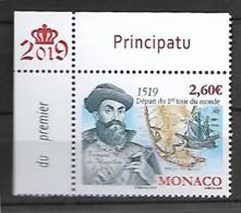 Monaco 2019 - Fernand De Magellan ** (500ème Anniversaire Du Départ Du 1er Tour Du Monde) - Ongebruikt