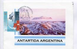 ANTARTIDA ARGENTINA, TARJETA DE FELICES FIESTAS, 2005. FDC 2007 -LILHU - Filatelia Polar