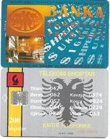 @+ Albanie à Puce - 200U - Bkt Bank - 23 400 Ex - Ref : ALB-09 - Albanie