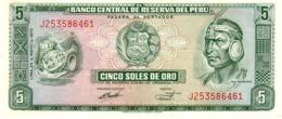 Peru P.99  5 Soles 1973 Unc - Pérou