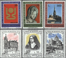 Vatikanstadt 615-617,618-620 (complete Issue) Unmounted Mint / Never Hinged 1973 World Congress, Theresia - Vatican