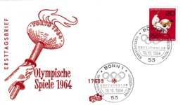 Germany 1964 Cover: Olympic Games Tokyo; Torch Relay; Judo - Sommer 1964: Tokio