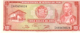 Peru P.112 10 Soles 1976 Unc - Pérou