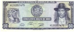 Peru P.107  50 Soles 1975 Unc - Pérou