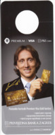 Croatia 2019 / Premium VISA Gold Card / Luka Modric, Croatian Football National Team Player / Advertising, Hanging Chad - Advertising
