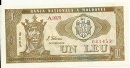 MOLDAVIE 1 LEU 1992 UNC P 5 - Moldavië