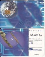 ROMANIA - Earth, Chip GEM3.1, 07/98, Used - Espacio