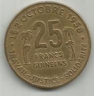 Guinea 25 Francs 1959.KM#3 - Guinea