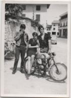 Fotografia Cm. 7,5 X 10,5 Con Motocicletta D'epoca - Automobili