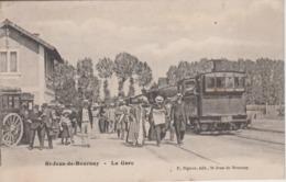 CPA Saint-Jean-de-Bournay - La Gare (belle Animation Avec Train) - Saint-Jean-de-Bournay