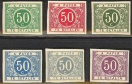 Proeven Van De Plaat 1916 : Ontwerp (LIVEMONT) Alle Zegels Met Gom +scharnier Stes 0034 / 0039 - Proofs & Reprints