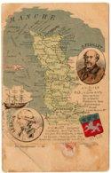 MANCHE - Nos Départements - Carte Géographique - Dos Non Divisé - Non Classés