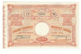 Loterie Coloniale 7e Tranche 1935 50fr.     Koloniale Loterij 7de Tranche 1935 50fr - Billets De Loterie