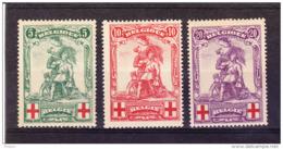 BELGIQUE COB 126/8  * MH  . (4T111) - 1914-1915 Red Cross