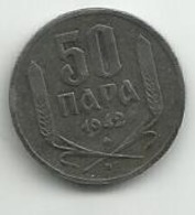 Serbia 50 Para 1942. KM#30 Zinc - Serbie