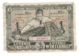 Loterie Secours D'hiver 2e Tranche 1942 10fr.     Winterhulp  Loterij 2de Tranche 1942 10fr - Billets De Loterie