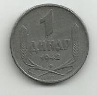 Serbia 1 Dinar 1942. Zinc - Serbia