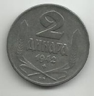 Serbia 2 Dinara 1942. Zinc - Serbia