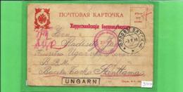 Russia Empire Postcard Correspondance Des Prisonnies 1915 Card Of A Prisoner Of War WW I Censorship - Storia Postale