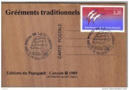 """Carte Postale Originale En Bois  ROUEN """"les Voiles De La Liberté"""" - Rouen"""