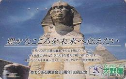 Télécarte Japon / 110-011 - Site EGYPTE - PYRAMIDE & SPHINX A - EGYPT Rel. Japan Phonecard - 192 - Cultura