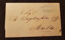 Brief Mit Inhalt Napoli 1859 Nach Malta - Naples