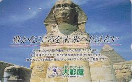 Télécarte Japon / 110-146360 - Site EGYPTE - PYRAMIDE & SPHINX B - EGYPT Rel. Japan Phonecard - 193 - Cultura
