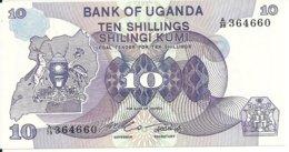 OUGANDA 10 SHILLINGS ND1982 UNC P 16 - Oeganda