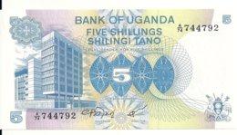 OUGANDA 5 SHILLINGS ND1979 UNC P 10 - Oeganda