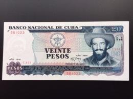 CUBA P110 20 PESOS 1991 UNC - Cuba