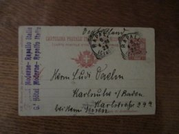 RAPALLO 6 4-09 2S GENOA CARTOLINA POSTALE ITALIANA CON RISPOOSTA 10 CENT. - 1900-44 Victor Emmanuel III.