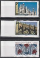Année 2019 - N° 1660a - 1674a - 1675a - Tissu Africain - Chambord - Cathédrale De Strasbourg - Provenants De Feuille - Adhésifs (autocollants)