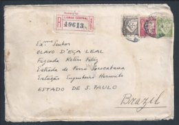 Carta Registada Brasil. Registered Letter S. Paulo 1934. Briefmarken Lusiadas, Luís De Camões. Post S. Paulo 1934 - 1910-... République
