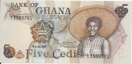 GHANA 5 CEDIS 1977 UNC P 15 B - Ghana