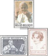 Belgium 2218,2221,2235 (complete Issue) Unmounted Mint / Never Hinged 1985 Pope, Stamp, Queen Astrid - Belgium