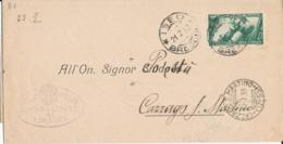 ISEO BRESCIA / CAZZAGO S.MARTINO  21-7-1933 DECENNALE CENT 25 - Storia Postale
