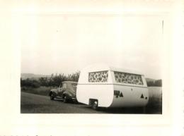 AUTO ET CARAVANE PHOTO ORIGINALE FORMAT 10.50 X 8 CM - Automobile