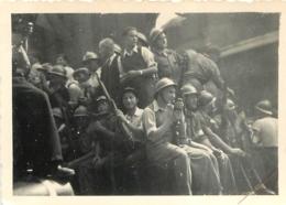 GROUPE DE SOLDATS EN CAMION   PHOTO ORIGINALE FORMAT  6 X 8.50 CM - War, Military
