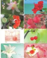 LOTE DE 8 TARJETAS TELEFONICAS DE JAPON. (FLORES - FLOWERS) (184) - Flores