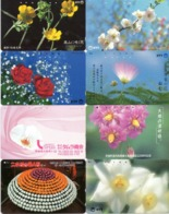 LOTE DE 8 TARJETAS TELEFONICAS DE JAPON. (FLORES - FLOWERS) (176) - Flores