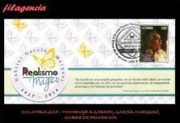 AMERICA. COLOMBIA SPD-FDC. 2015 HOMENAJE A GABRIEL GARCÍA MÁRQUEZ. PREMIO NOBEL DE LITERATURA - Colombie