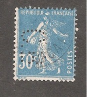 Perfin/perforé/lochung France No 192 C.B. Cie De Béthune - Gezähnt (Perforiert/Gezähnt)