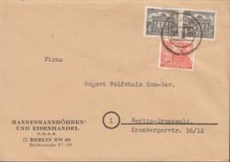 BERLIN 2x 42, 46 MiF, Auf Orts-Brief Mit Stempel: Berlin N65d 28.9.1949 - [5] Berlin