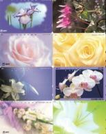 LOTE DE 8 TARJETAS TELEFONICAS DE JAPON. (FLORES - FLOWERS) (183) - Flores