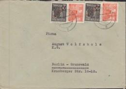 BERLIN  2x 21, 2x 46 Mit 46 II MiF, Auf Orts-Brief Mit Stempel: Berlin SW 68 C 8.7.1949 - [5] Berlin