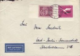 BRD 205, 216 MiF, Auf Luptpost-Brief Mit Stempel: Ennhepetal-Milspe 29.8.1955 - Lettres & Documents