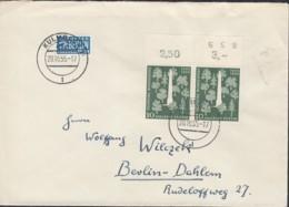 BRD  220 MeF, Auf Briefmit Stempel: Kulmbach 28.10.1955 - [7] République Fédérale