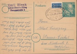 BRD PSo 1, Mit Bahnpost Stempel: Hamburg-Cuxhaven ZUG 00423 27.10.1949 - Cartes Postales - Neuves