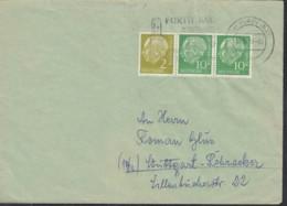BRD W 12 Auf Brief Mit Stempel: Fürth 11.12.1956 - [7] République Fédérale